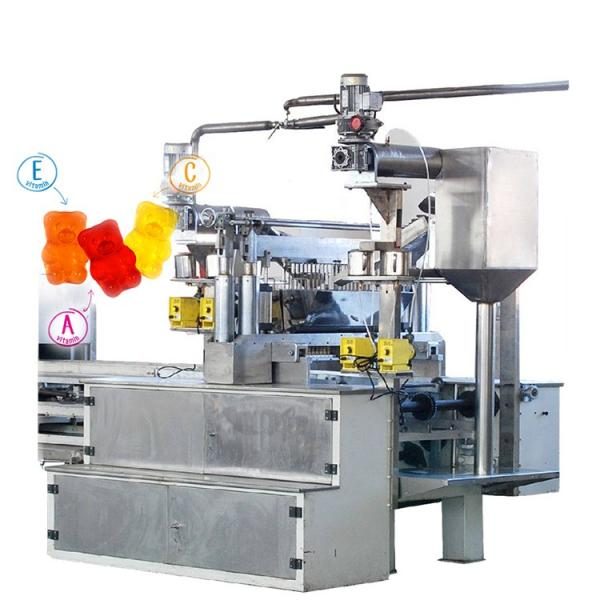 Automatic inside filled gummy bear candy jelly candy machine